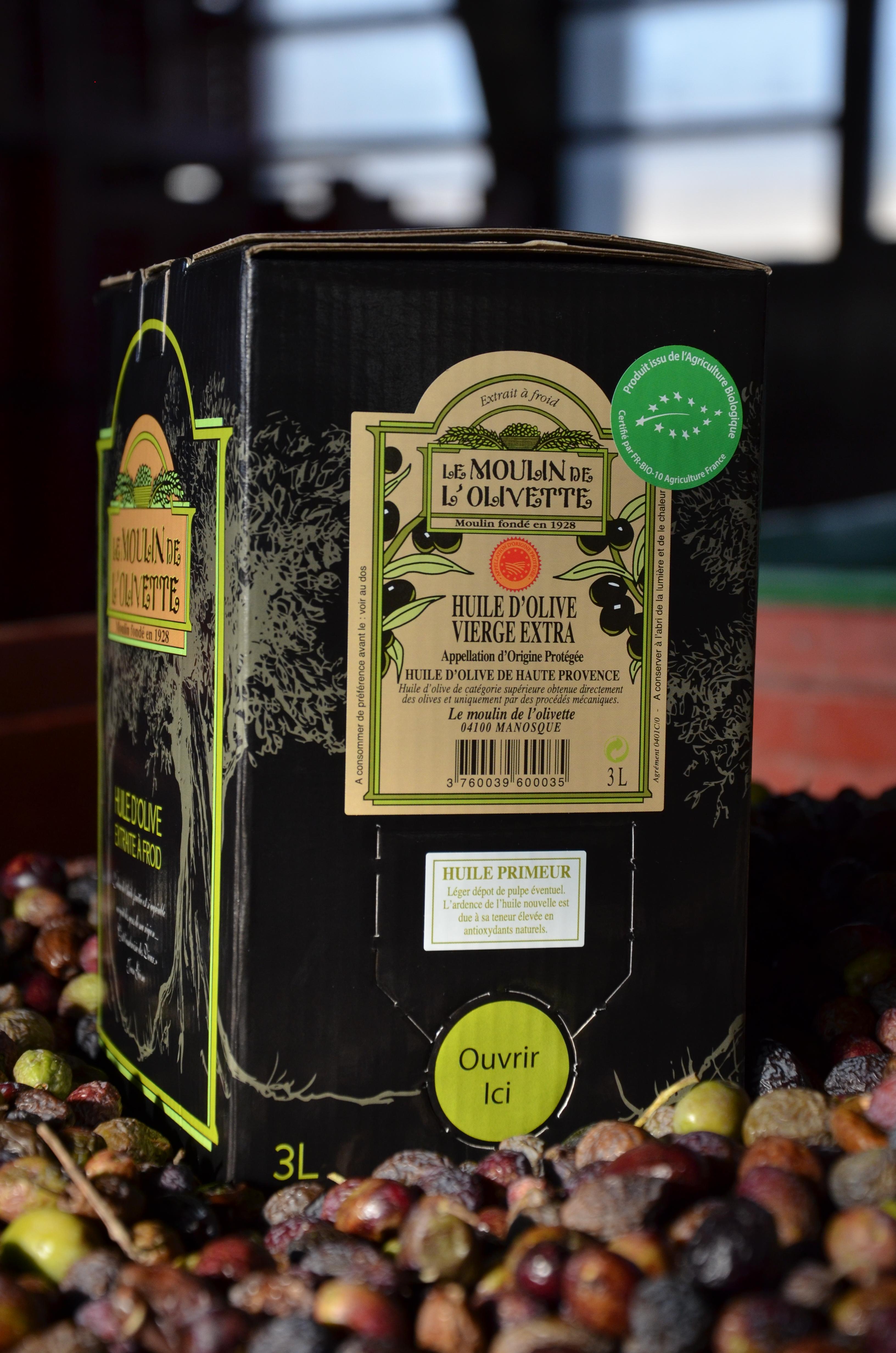 huile d 39 olive bio aop haute provence 3l huile d 39 olive de provence aoc en vente directe du. Black Bedroom Furniture Sets. Home Design Ideas